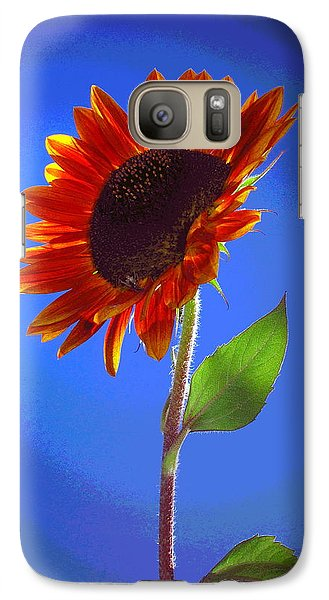 Galaxy Case featuring the photograph sunflower Solitaire by Joyce Dickens