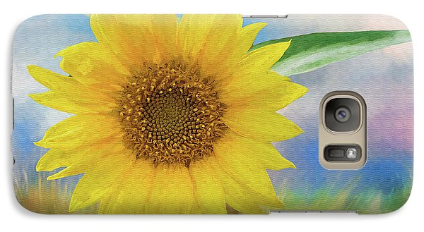Galaxy Case featuring the photograph Sunflower Surprise by Bonnie Barry