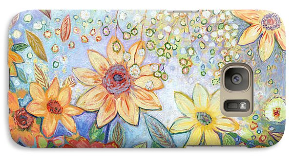 Sunflower Galaxy S7 Case - Sunflower Tropics by Jennifer Lommers