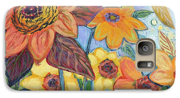 Sunflower Galaxy S7 Case - Sunflower Tropics Part 1 by Jennifer Lommers