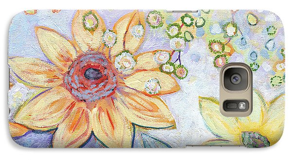 Sunflower Galaxy S7 Case - Sunflower Tropics Part 2 by Jennifer Lommers