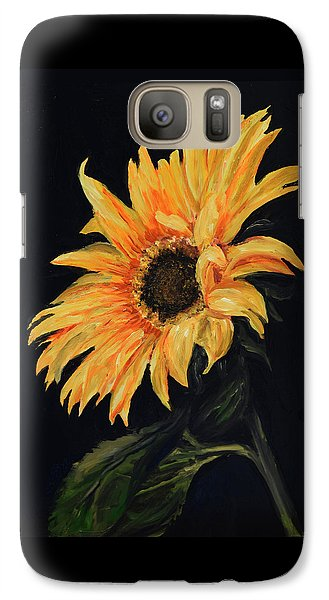 Galaxy Case featuring the painting Sunflower Vii by Sandra Nardone