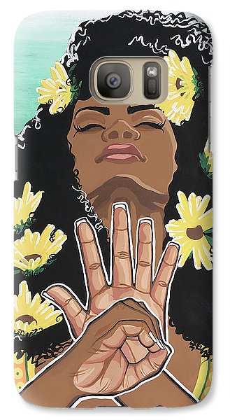 Sunflower Galaxy S7 Case - Sunflowers And Dashiki by Alisha Lewis