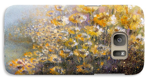 Galaxy Case featuring the painting Sunflowers by Andrew King