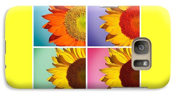 Sunflowers Collage Galaxy Case by Mark Ashkenazi