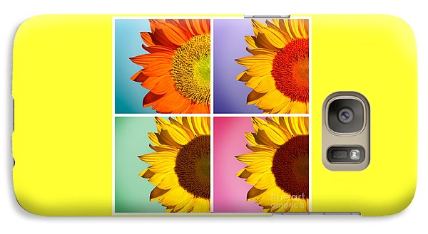 Sunflower Galaxy S7 Case - Sunflowers Collage by Mark Ashkenazi