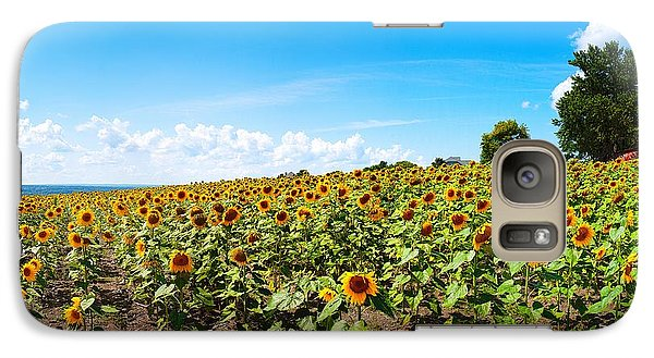 Galaxy Case featuring the photograph Sunflowers In Ithaca New York by Paul Ge