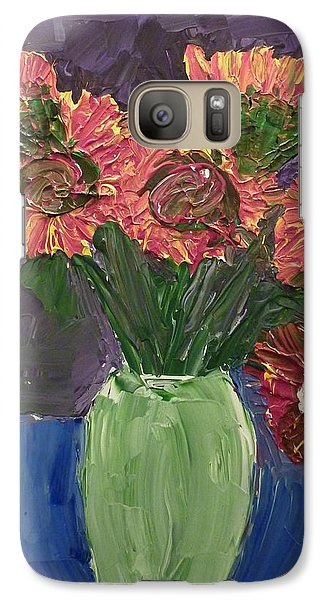 Galaxy Case featuring the painting Sunflowers In Vase by Joshua Redman