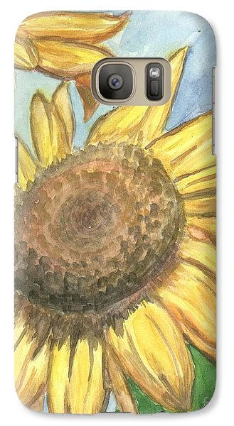 Galaxy Case featuring the painting Sunflowers by Jacqueline Athmann