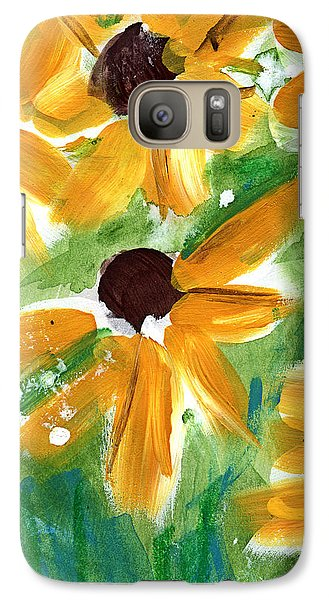 Sunflower Galaxy S7 Case - Sunflowers by Linda Woods