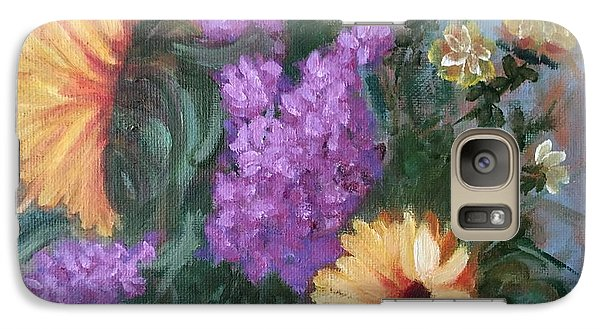 Galaxy Case featuring the painting Sunflowers by Sharon Schultz