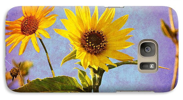 Galaxy Case featuring the photograph Sunflowers - The Arrival by Glenn McCarthy Art and Photography
