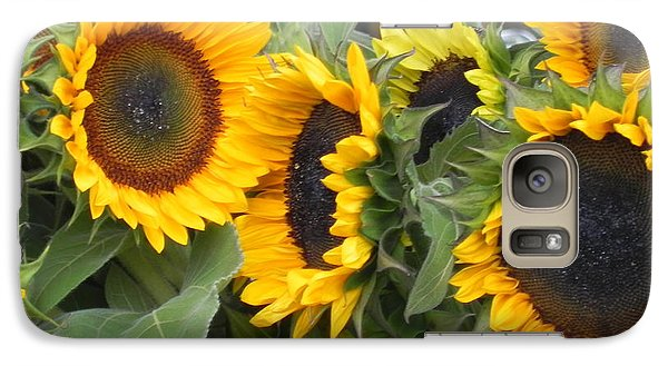 Galaxy Case featuring the photograph Sunflowers Two by Chrisann Ellis