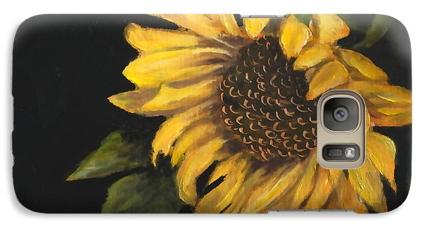 Galaxy Case featuring the painting Sunflowervi by Sandra Nardone
