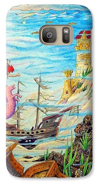 Galaxy Case featuring the painting Sunken Ships by Matt Konar