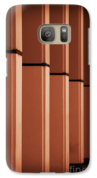 Galaxy Case featuring the photograph Sunkissed Pillars by Baggieoldboy