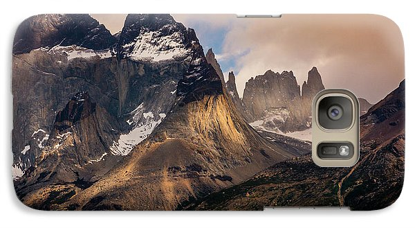 Galaxy Case featuring the photograph Sunlight On The Mountain by Andrew Matwijec