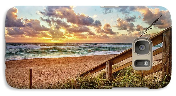 Galaxy Case featuring the photograph Sunlight On The Sand by Debra and Dave Vanderlaan