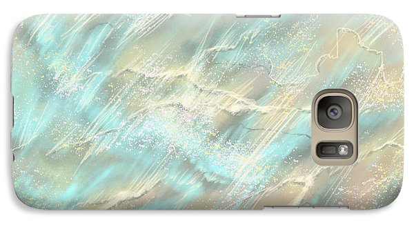 Galaxy Case featuring the digital art Sunlight On Water by Amyla Silverflame