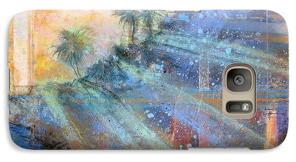 Galaxy Case featuring the painting Sunlight Streaks by Andrew King