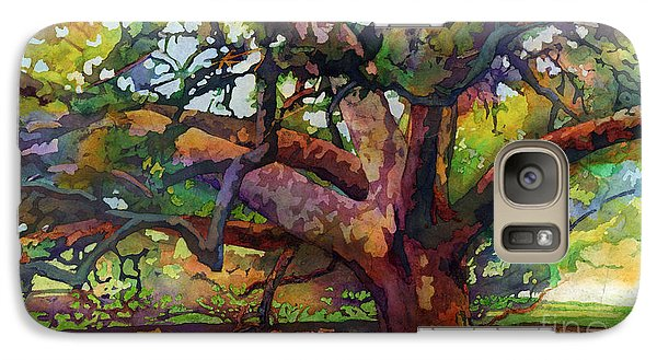 Galaxy Case featuring the painting Sunlit Century Tree by Hailey E Herrera