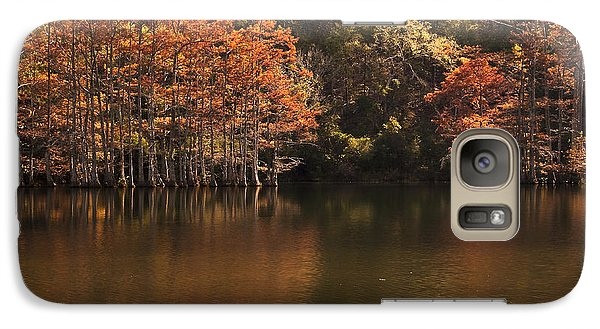 Galaxy Case featuring the photograph Sunlit Cypress Trees On Beaver's Bend by Tamyra Ayles
