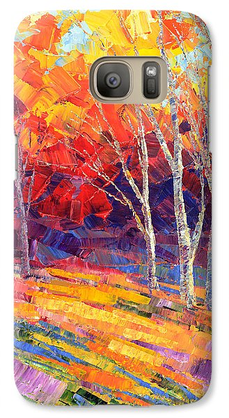 Galaxy Case featuring the painting Sunlit Shadows by Tatiana Iliina