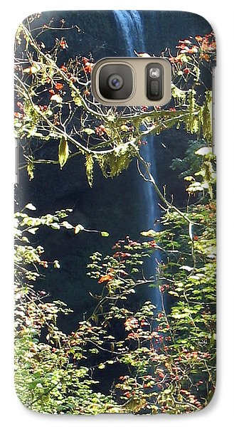 Galaxy Case featuring the photograph Sunlite Silver Falls by Thomas J Herring