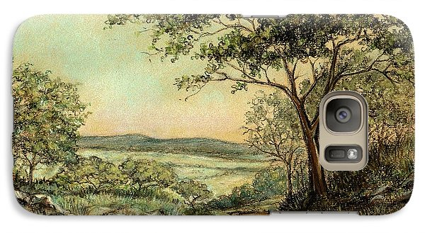 Galaxy Case featuring the painting Sunny Bushveld by Heidi Kriel