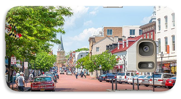 Galaxy Case featuring the photograph Sunny Day On Main by Charles Kraus