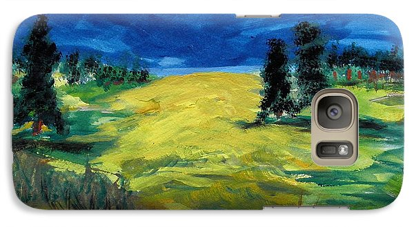 Galaxy Case featuring the painting Sunny Field by Mary Carol Williams