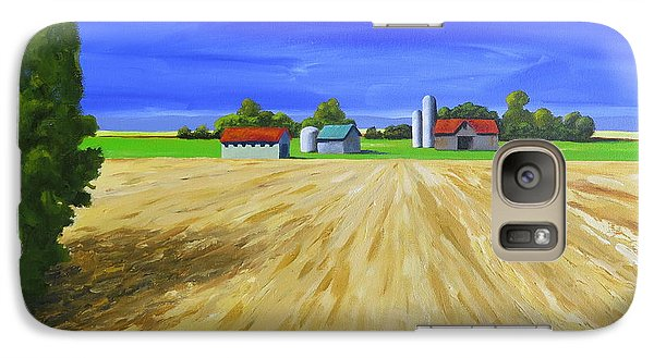 Galaxy Case featuring the painting Sunny Fields by Jo Appleby