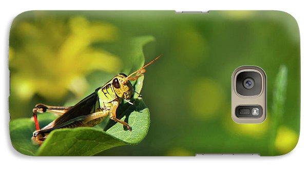 Green Grasshopper Galaxy S7 Case