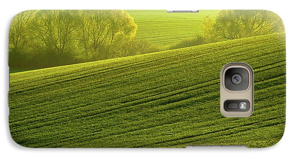 Galaxy Case featuring the photograph Sunny Green by Jenny Rainbow