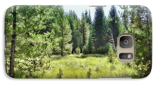 Galaxy Case featuring the photograph Sunny Mountain Meadow - Landscape Photograph by Ann Powell