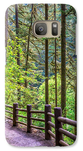 Galaxy Case featuring the photograph Sunny Path by Jerry Cahill
