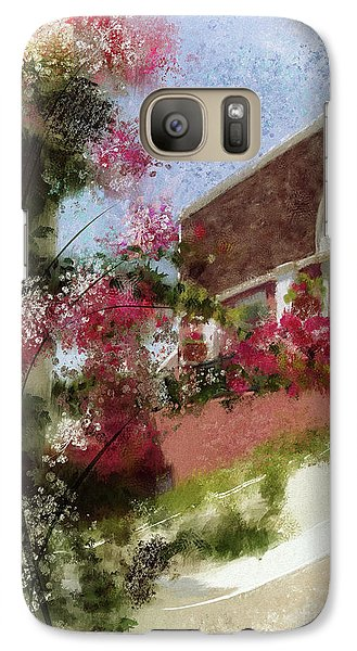 Galaxy Case featuring the photograph Sunny Santorini by Lois Bryan