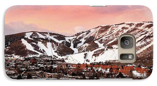 Galaxy Case featuring the photograph Sunrise Above Park City Mountain, Utah. by Johnny Adolphson