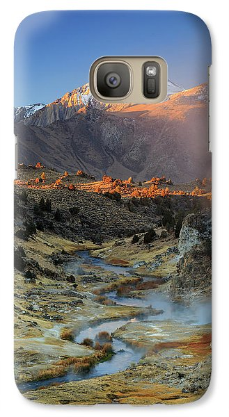 Galaxy Case featuring the photograph Sunrise At Hot Creek. by Johnny Adolphson