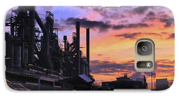 Galaxy Case featuring the photograph Sunrise At Steelstacks by DJ Florek