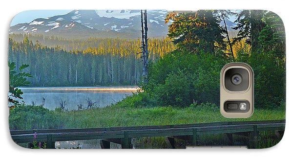 Galaxy Case featuring the photograph Sunrise At Takhlakh Lake Under Mt Adams by Jack Moskovita