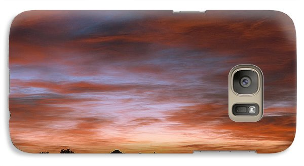 Galaxy Case featuring the photograph Sunrise At The Farm by Monte Stevens