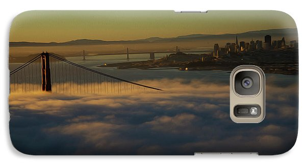 Galaxy Case featuring the photograph Sunrise At The Golden Gate by David Bearden