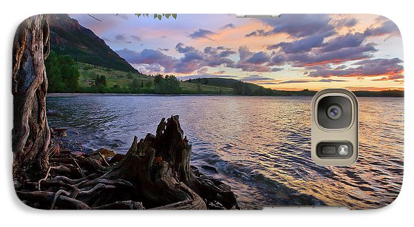 Galaxy Case featuring the photograph Sunrise At Waterton Lakes by Dan Jurak
