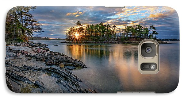Galaxy Case featuring the photograph Sunrise At Wolfe's Neck Woods by Rick Berk
