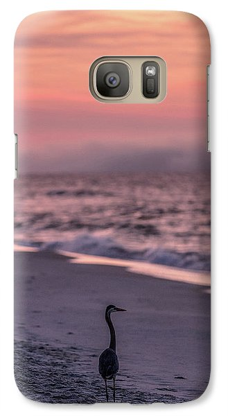 Galaxy Case featuring the photograph Sunrise Beach And Bird by John McGraw