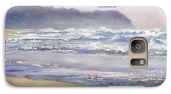 Galaxy Case featuring the painting Sunrise Beach Sunshine Coast Queensland Australia by Chris Hobel