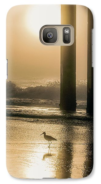 Galaxy Case featuring the photograph Sunrise Bird At Beach  by John McGraw