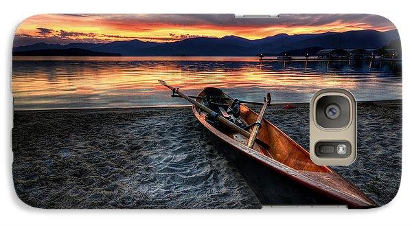 Boat Galaxy S7 Case - Sunrise Boat by Matt Hanson