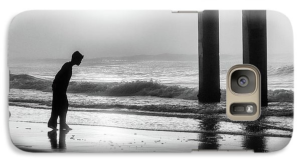 Galaxy Case featuring the photograph Sunrise Boy In Foggy Beach by John McGraw